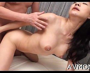 Sexy oriental mom undress taunt