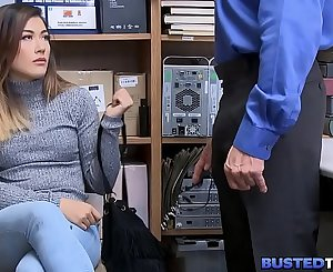 Cherry Asian Teen Shoplifter Fucked By Cop
