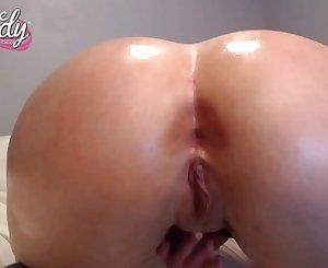 Mandy Kay Riding Dildo - Gostosa se exibindo e masturbando