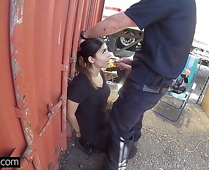 Screw the Cops - Latina bad girl caught sucking a cops dick