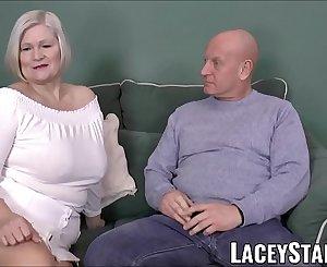 LACEYSTARR - Buxomy GILF negotiates a good pussy deal