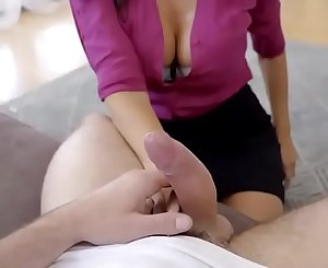 Mature stepmom is drunk and horny
