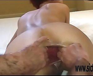 Dual anal fisting amateur slut Maria