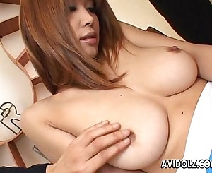 Big tits Asian babe totally felt out!