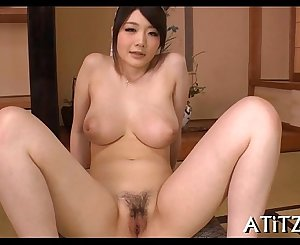 Wild blowjob from large tits oriental