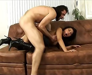 Bad and bearded man fucks the ass of a very hot asian girl